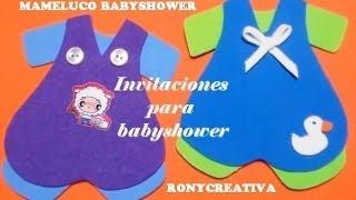Baby Shower Niño Invitaciones Manualidades Fáciles
