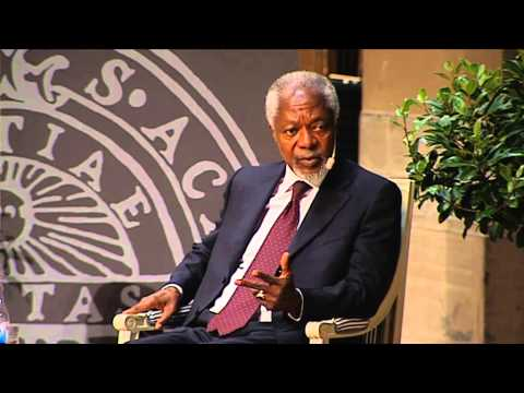 Kofi Annan visited Uppsala University