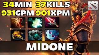 MidOne Ember Spirit [900+ GPM/XPM, 37 FRAGS] Dota 2