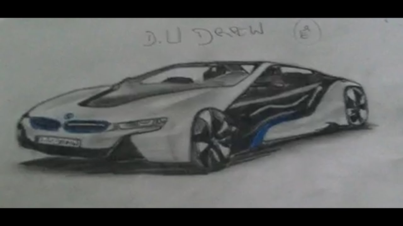 How To Draw Bmw I8 Easy Drawing Youtube