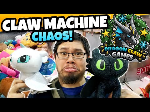 Breaking Games And Taking Names! Claw Machine CHAOS At Tilt Studio Arcade! | 12 Days Of DCG - Day 1