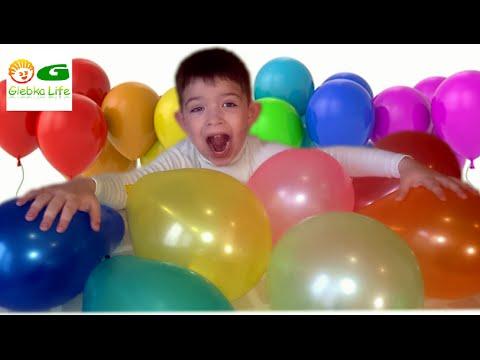 ШАРИКИ СЮРПРИЗЫ! Лопаем шарики с сюрпризами. BALLS SURPRISES! Burst balloons with surprises.