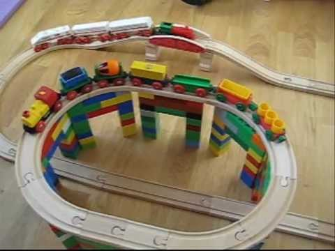 how to make diy wooden road or railway tracks
