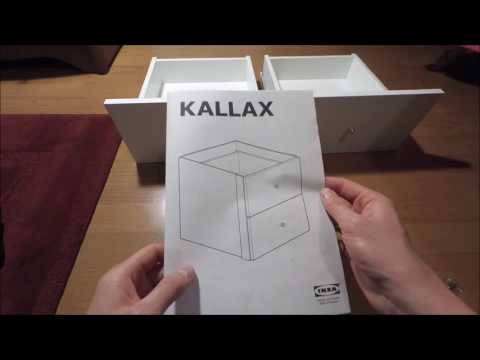 IKEA KALLAX How to install set of 2 drawers in SHELVING UNIT SYSTEM HOW TO INSTALL STORAGE SYSTEM