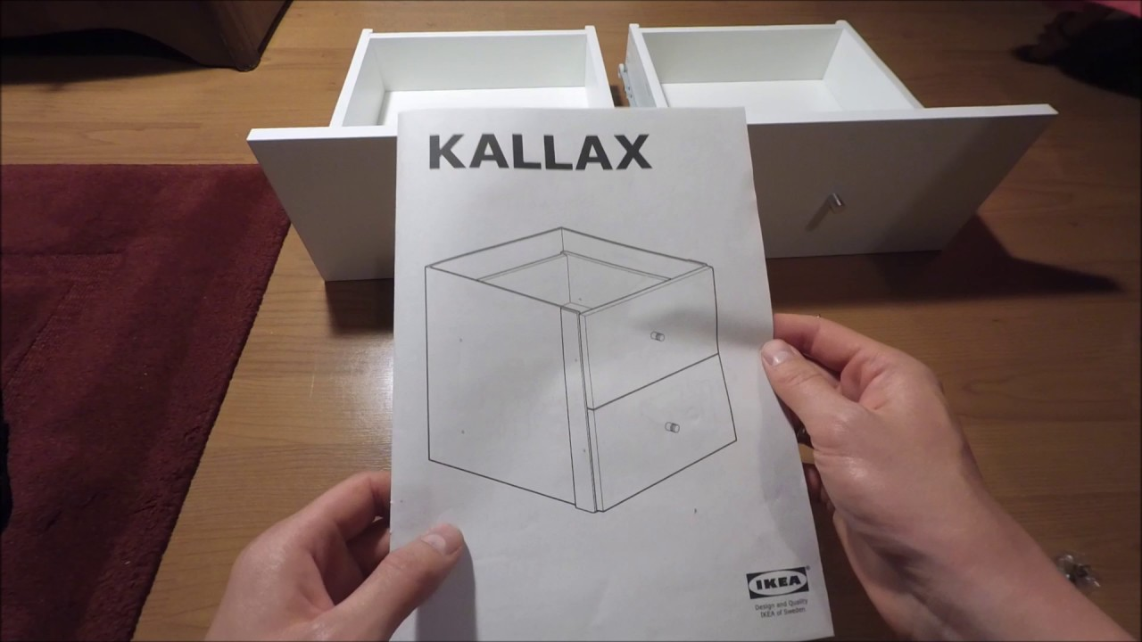 competitive price 375b9 6b599 IKEA KALLAX How to install set of 2 drawers in SHELVING UNIT SYSTEM HOW TO  INSTALL STORAGE SYSTEM