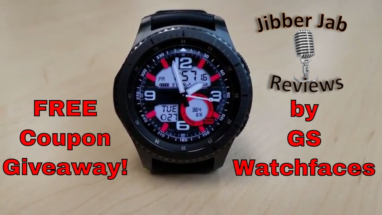 Samsung Gear S3/Gear Sport Watch Faces by GS Watchfaces - FREE Coupon Giveaway! Jibber Jab Reviews!