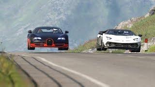Lamborghini Egoista Vs Bugatti Veyron Drag Race