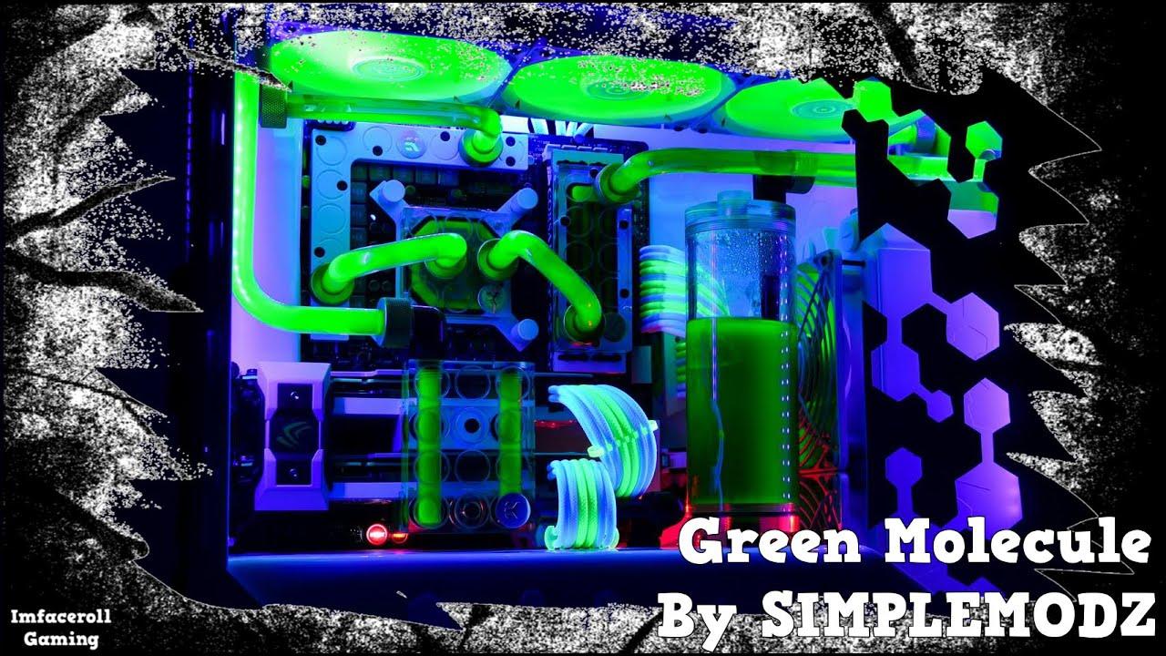 GREEN MOLECULE Custom Water cooled Fractal Design ARC Mini ...