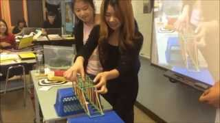 Salvadori Students Test Truss Bridges