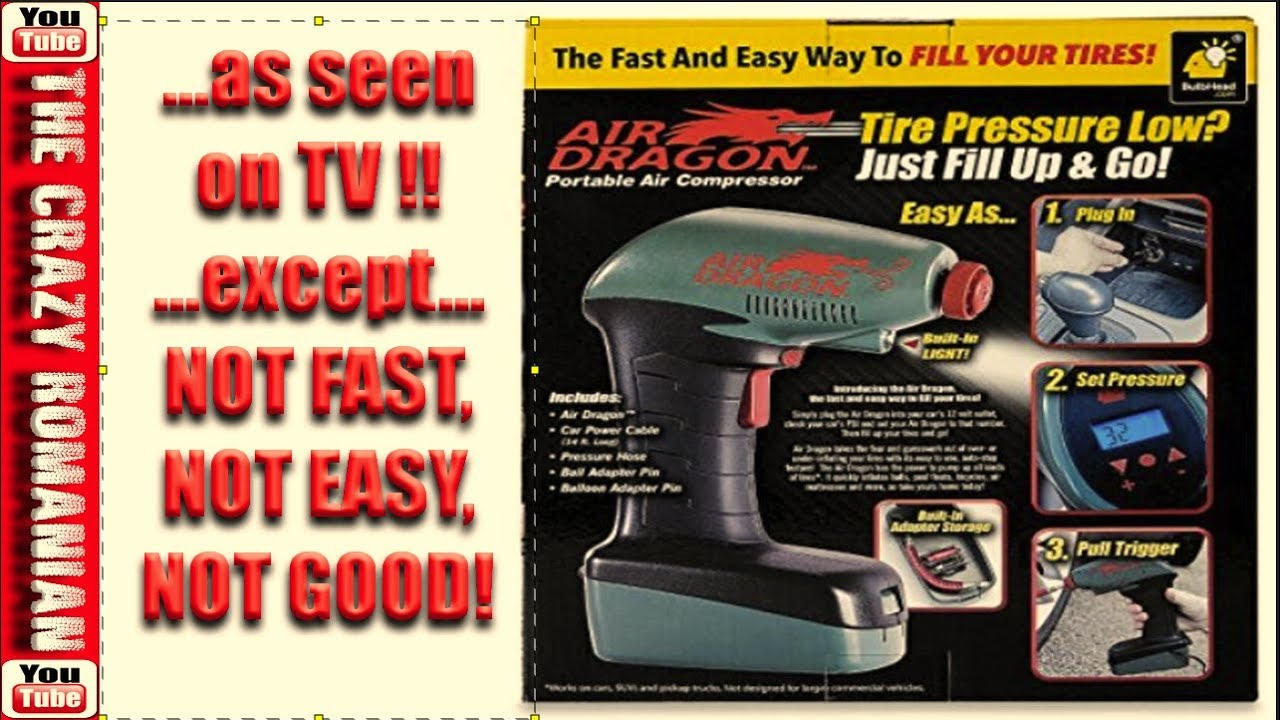 Air Dragon Tire Inflator >> As Seen On Tv Air Dragon Portable Tire Inflator In Depth Review