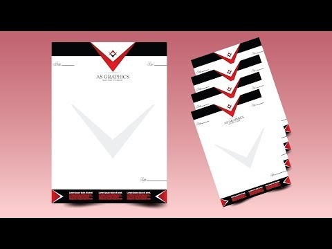 CorelDraw x7 Tutorial - How to Make Letterhead Design By AS GRAPHICS