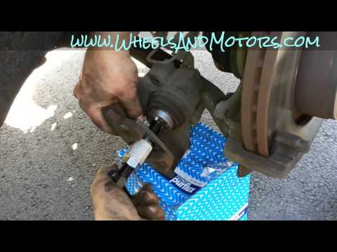 How to change front brake pads and discs (rotors) for Audi A6 (C6 4F)