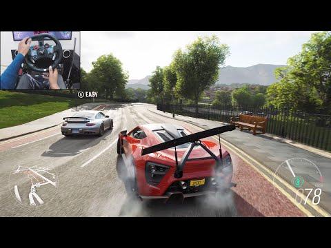 Zenvo TSR-S – Forza Horizon 4 | Logitech g29 gameplay