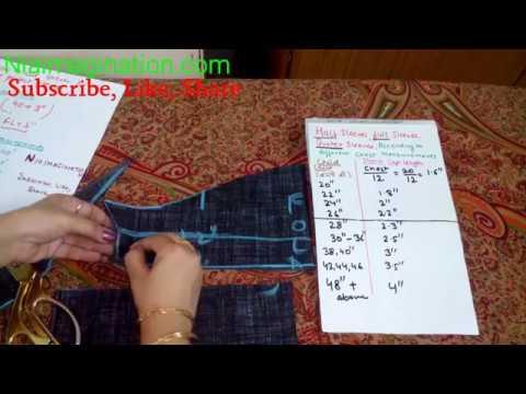 बाजू सभी Size के अनुसार सिलने का आसान तरीका   Cut & Sew Sleeves Easy