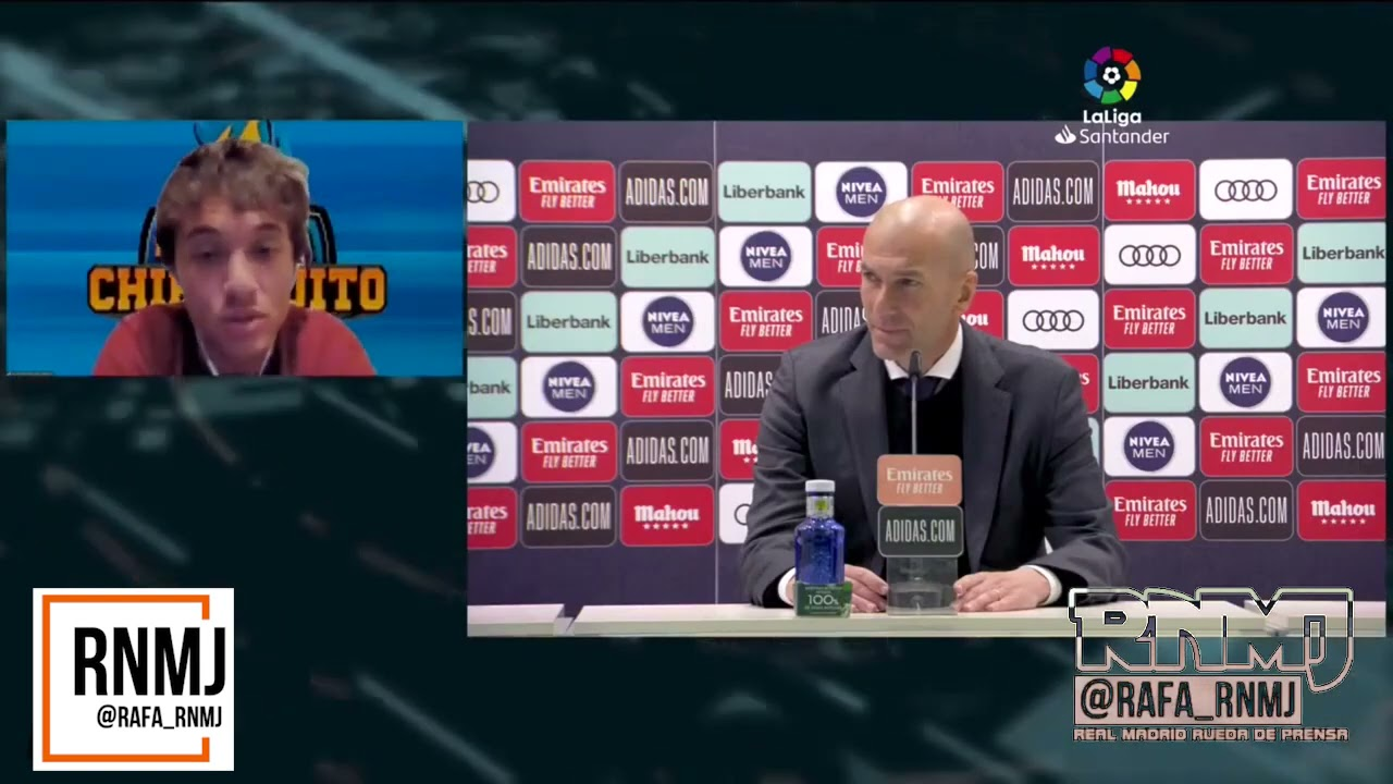 Rueda de prensa de ZIDANE post Real Madrid 2-0 Osasuna (01/05/2020)