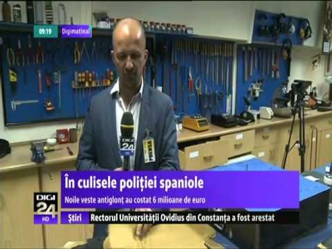 DIGI24 SPANIA - Cinci minute spaniole: Noile veste antiglonț ale polițiștilor din Madrid
