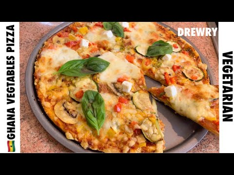 A GHANA VEGETABLES PIZZA (FULL RECIPE) SPICY!