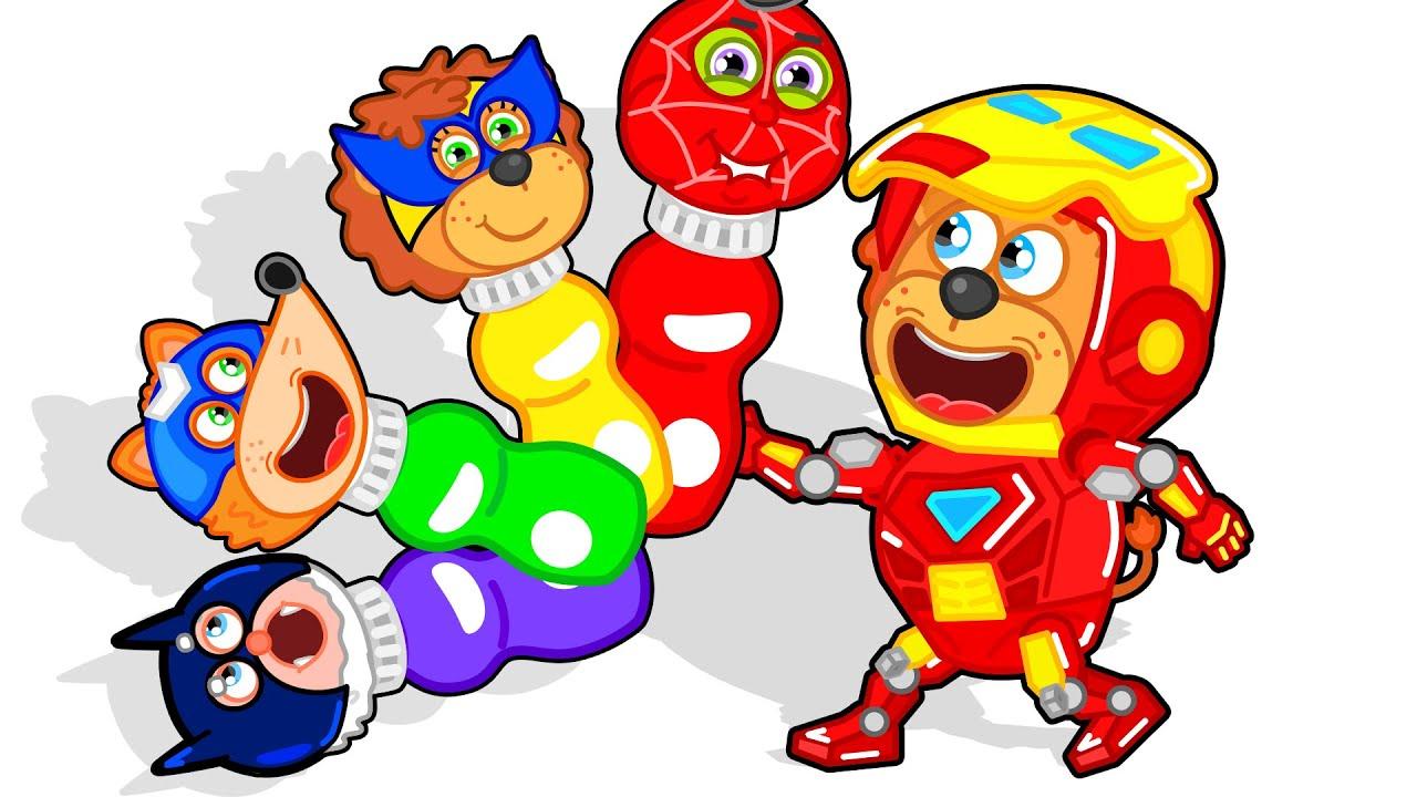 Lion Family на русском - Маша и Леопольд. Супергерои в парке аттракционов - Мультик для детей