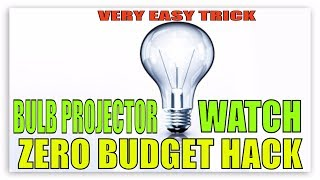 Zero Budget Projector | How To Make Smartphone Projector At Home | DIY Bulb Projector  | Life Hack