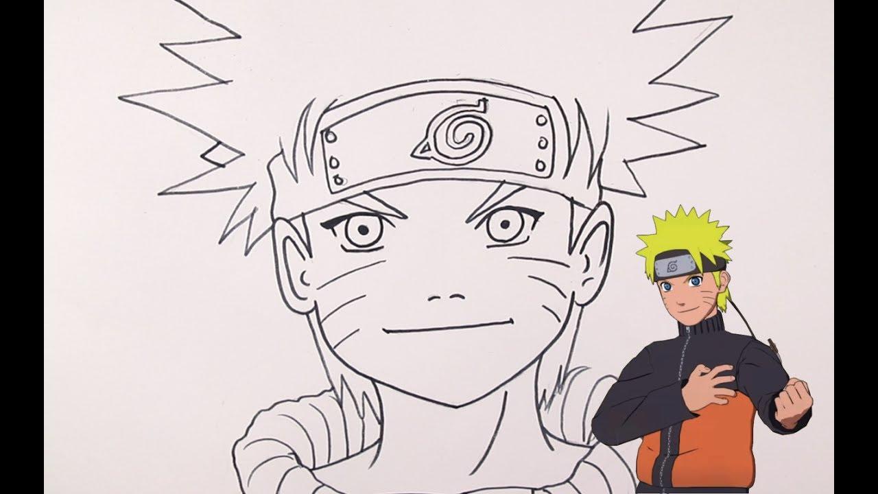 رسم Naruto خطوة بخطوة بالرصاص والتخطيط الجزء الاول Part1 Youtube