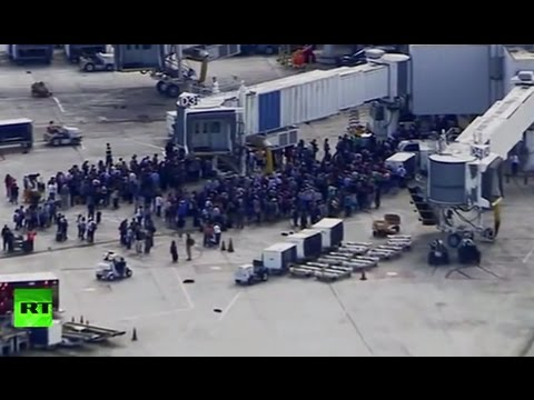 Shooting erupts at the Fort Lauderdale-Hollywood International Airport in Florida (streamed live)