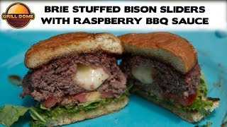 Grill Dome Kamados - Brie Stuffed Bison Sliders With Raspberry Bbq Sauce