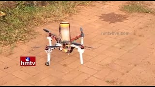 Drones In Agriculture by Acharya NGR Agri University | Poultry Expo in Hyderabad | Nela Talli | HMTV