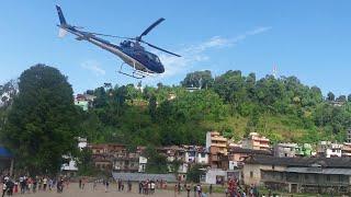 जीप दुर्घटनामा परेका घाइतेलाई हेलिकप्टरबाट काठमाडौ लगियो