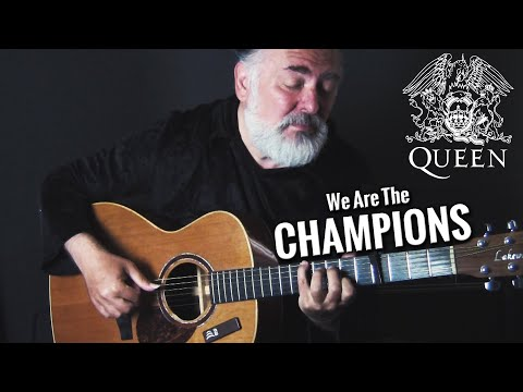 'We Are The Champions' Queen (Amazing Finger-Style Guitar Cover)