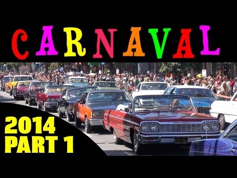Carnaval San Francisco 2014 Parade Compilation Part 1 - Cars (lowriders)