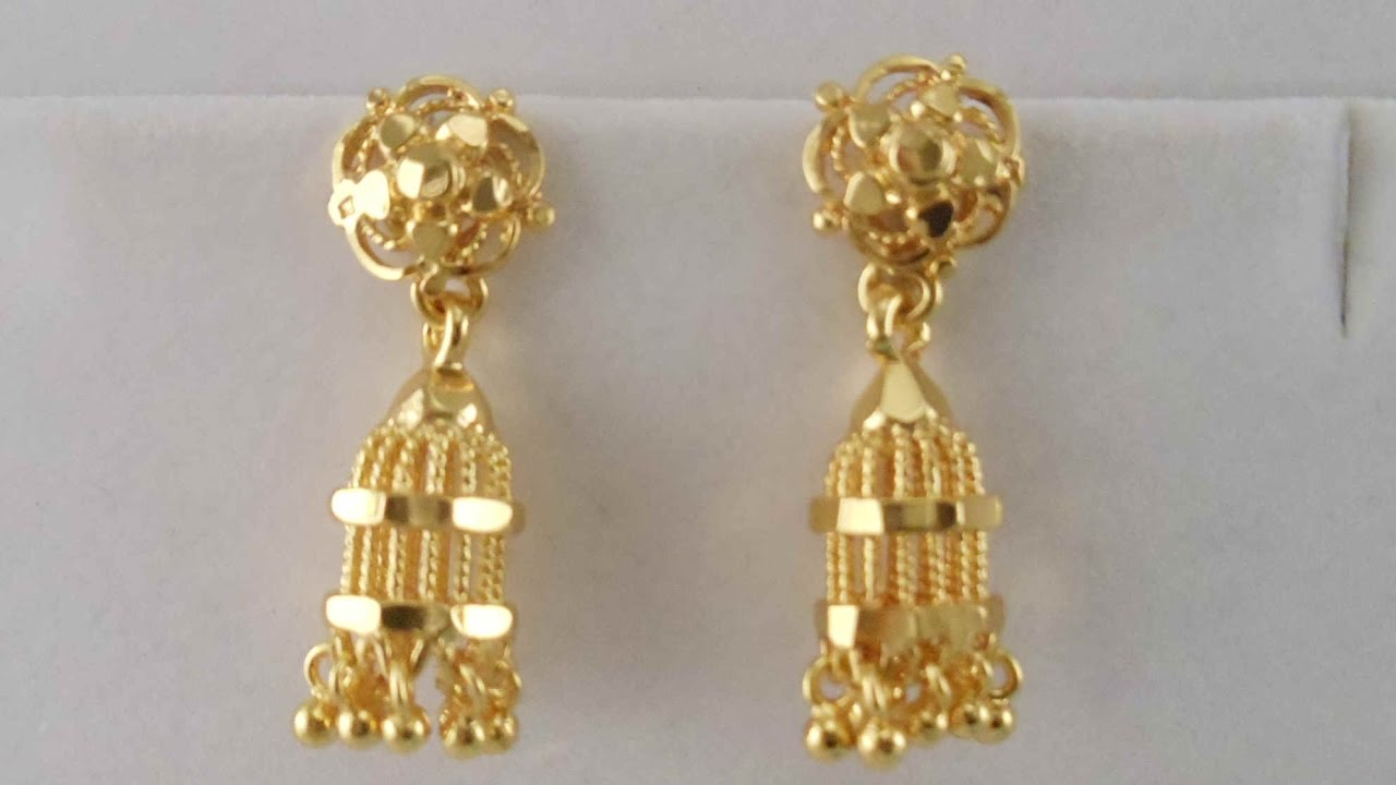 Latest Gold Long Jummka Earrings Designs || Diamond Earring ...