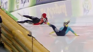 Bloody wipeout in 500m Speed Skating Race - Universal Sports