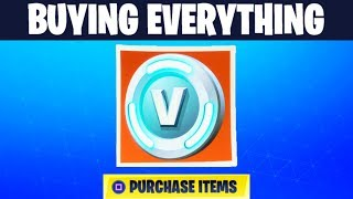 HOW MUCH V BUCKS DOES IT COST TO BUY EVERYTHING IN FORTNITE?