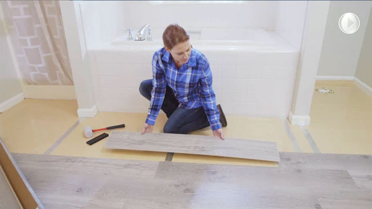 Replace Your Bathroom Floor - YouTube