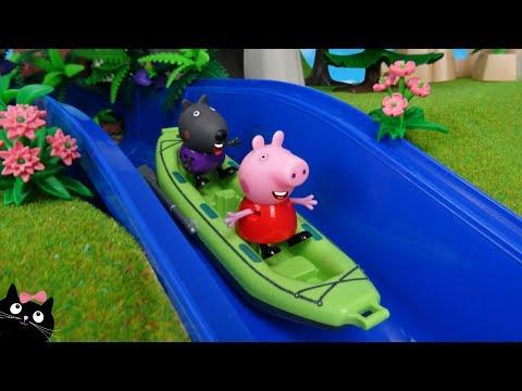Peppa Pig Juguete ACUATICO - Actividades de AGUA en la CASA del PARQUE Forestal PLAYMOBIL - JUGUETES