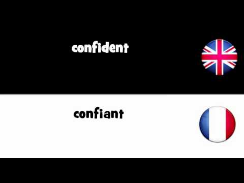 LEARN 1 FRENCH WORD = confident