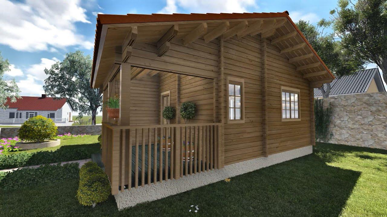 Delightful 3d Wooden House Palmako Paula Domiki Prokat Lumion Animation 3ds Max    YouTube
