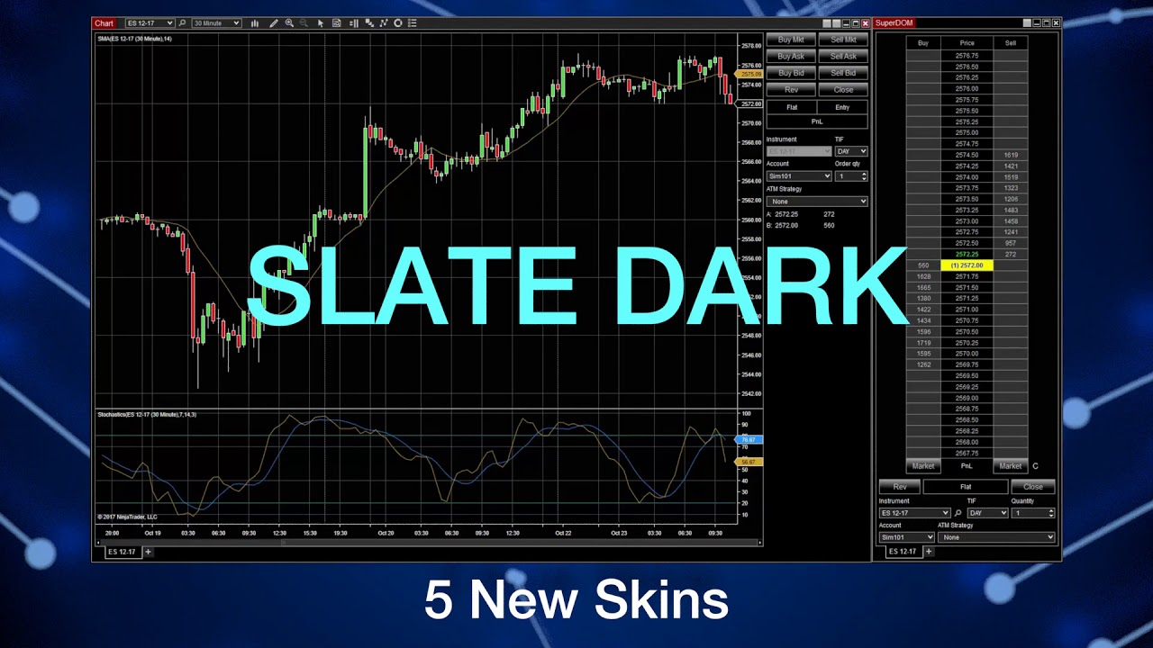 Change NinjaTrader 8's Look and Feel with Skins