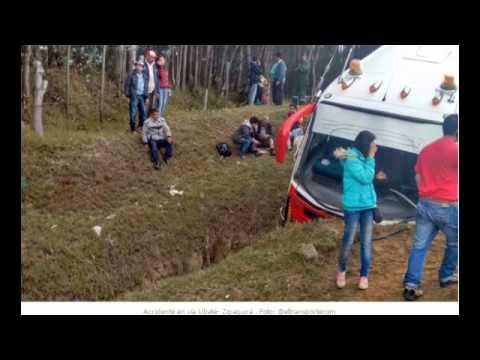 ACCIDENTE EN LA VÍA UBATÉ ZIPAQUIRA DEJA 17 PERSONAS HERIDAS