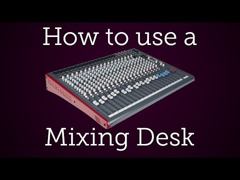 How to use an Audio Mixer