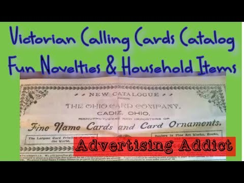 Ohio Card Company Victorian Calling Card Catalog + Novelties & Household Items ~ Advertising Addict