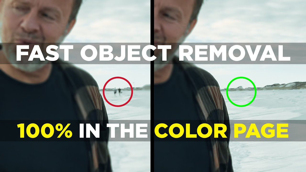 Download Quickly Remove Objects 100% In The Davinci Resolve 17 Color Page