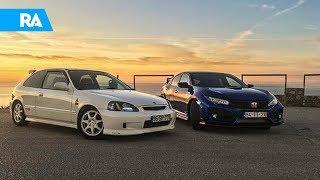 Honda Civic Type R EK9 vs FK8. DUELO de gerações!