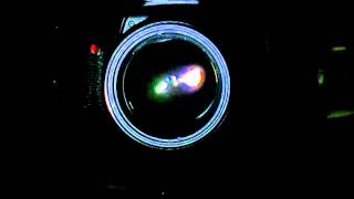 Canon 5D and Canon 100 f2 taking a picture in slow motion (120 fps w/ Canon S100)