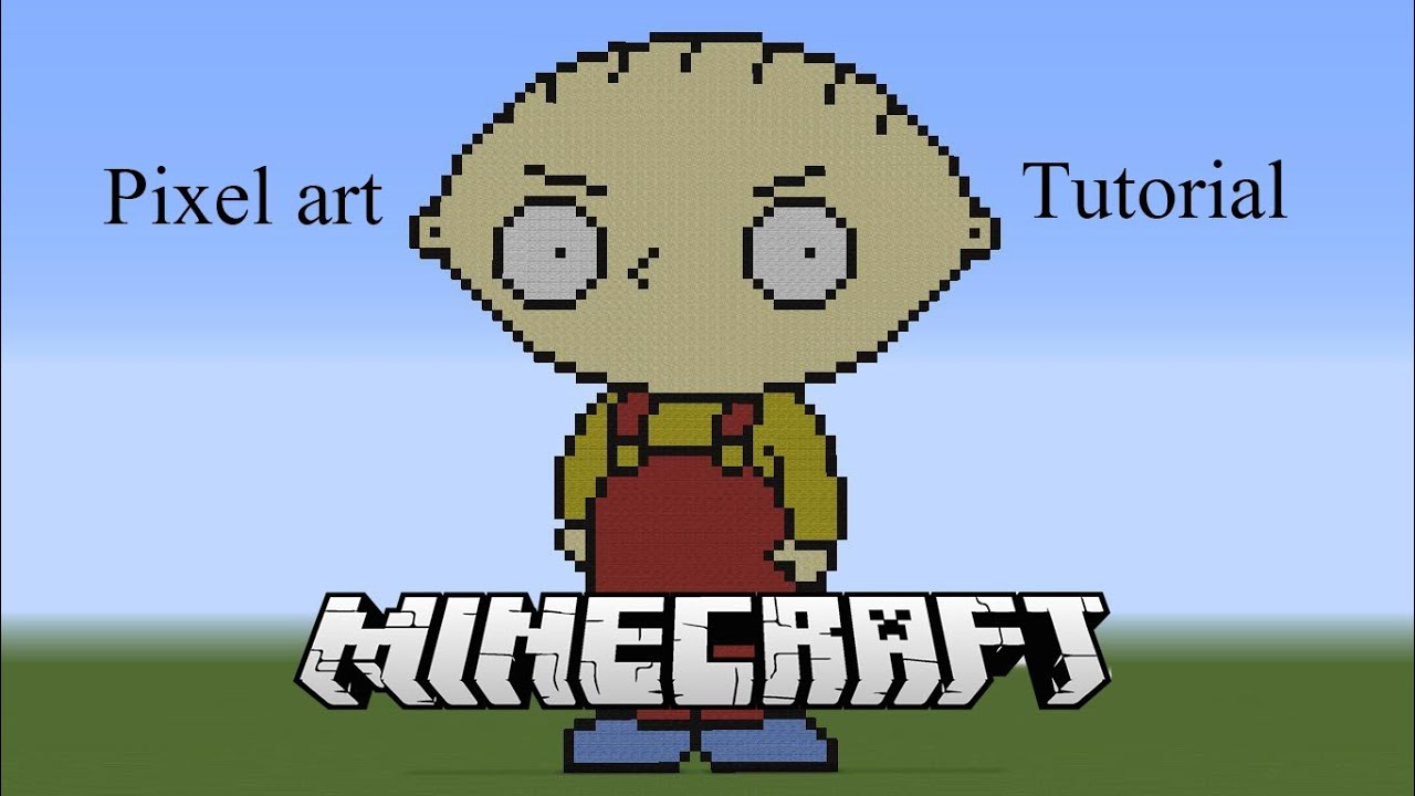 Minecraft Stewie Griffin Pixel Art Tutorial Youtube
