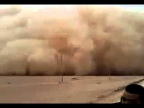 Libya : Heavy Sandstorm in Ajdabiya limited the effects of Gaddafi army 15/03/11
