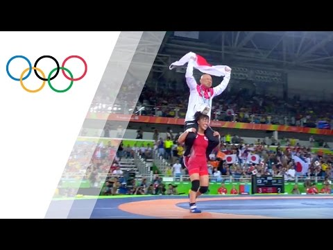 Tosaka celebrates gold medal moment