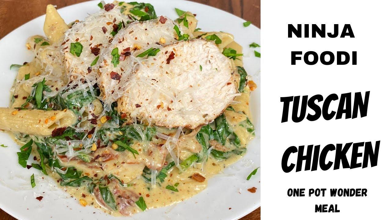NINJA FOODI - Creamy Tuscan Chicken - One Pot Wonder Meal