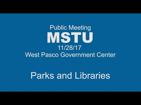 Pasco Parks & Libraries Funding Workshop New Port Richey (11.28.2017)