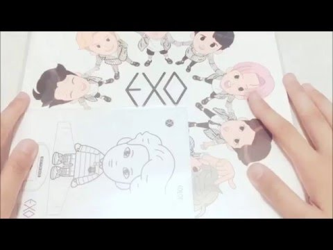EXO A Day In Planet Colouring Book Unboxing